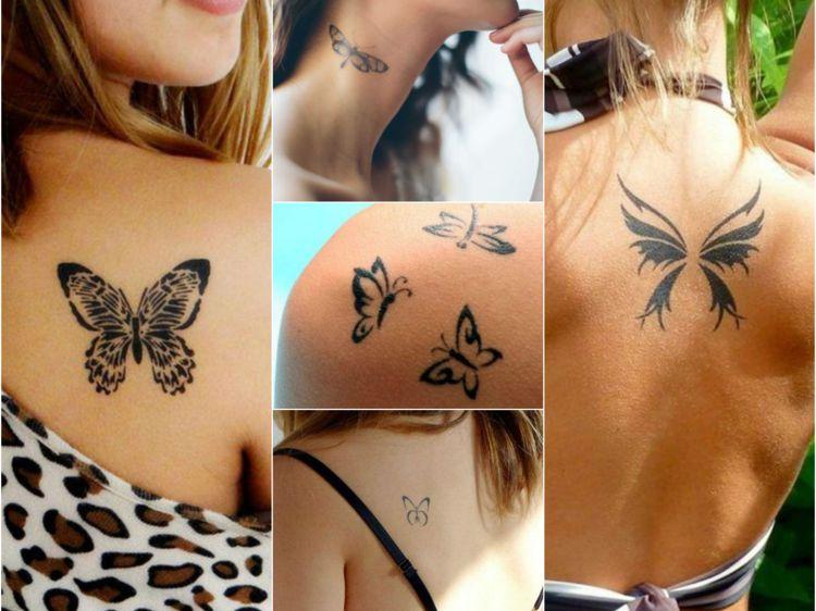 Tatouages femme papillon