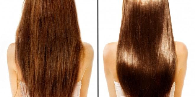cheveux lissés avec lissage avant après cheveux abimés