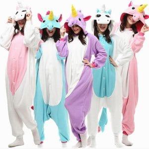 pyjama licorne femme de toutes les couleurs