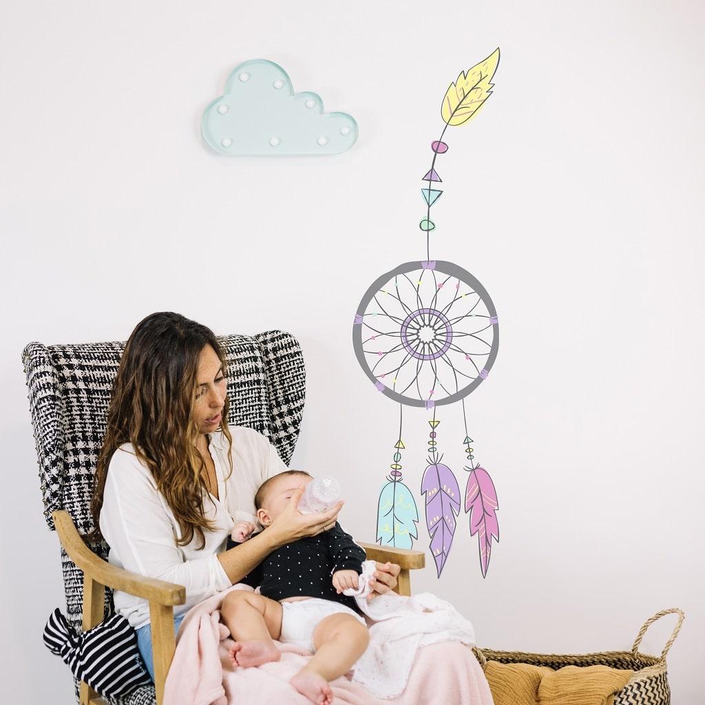 sticker chambre bébé attrape rêves