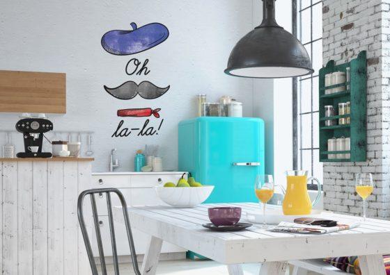 stickers mural cuisine tendance