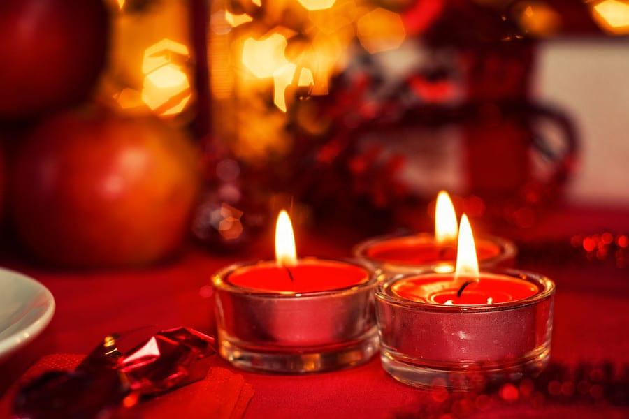 bougies repas romantique chez soi