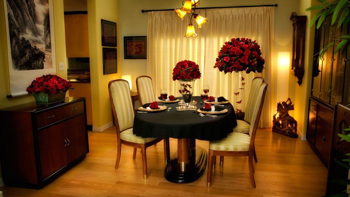 table pour soiree romantique a la maison