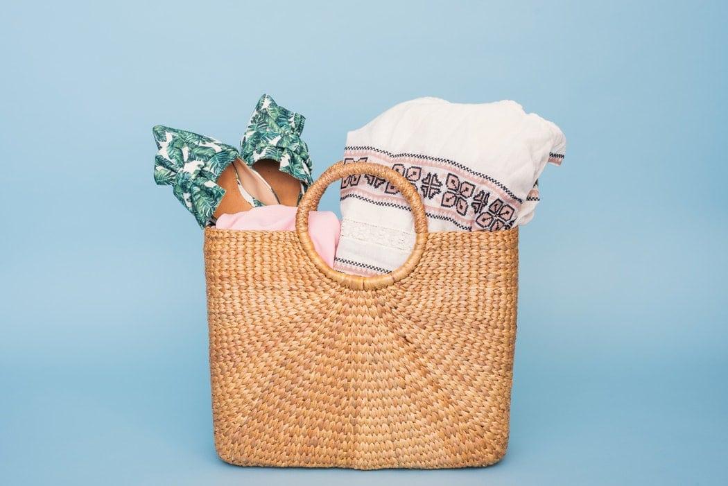 sac en rotin pour la plage