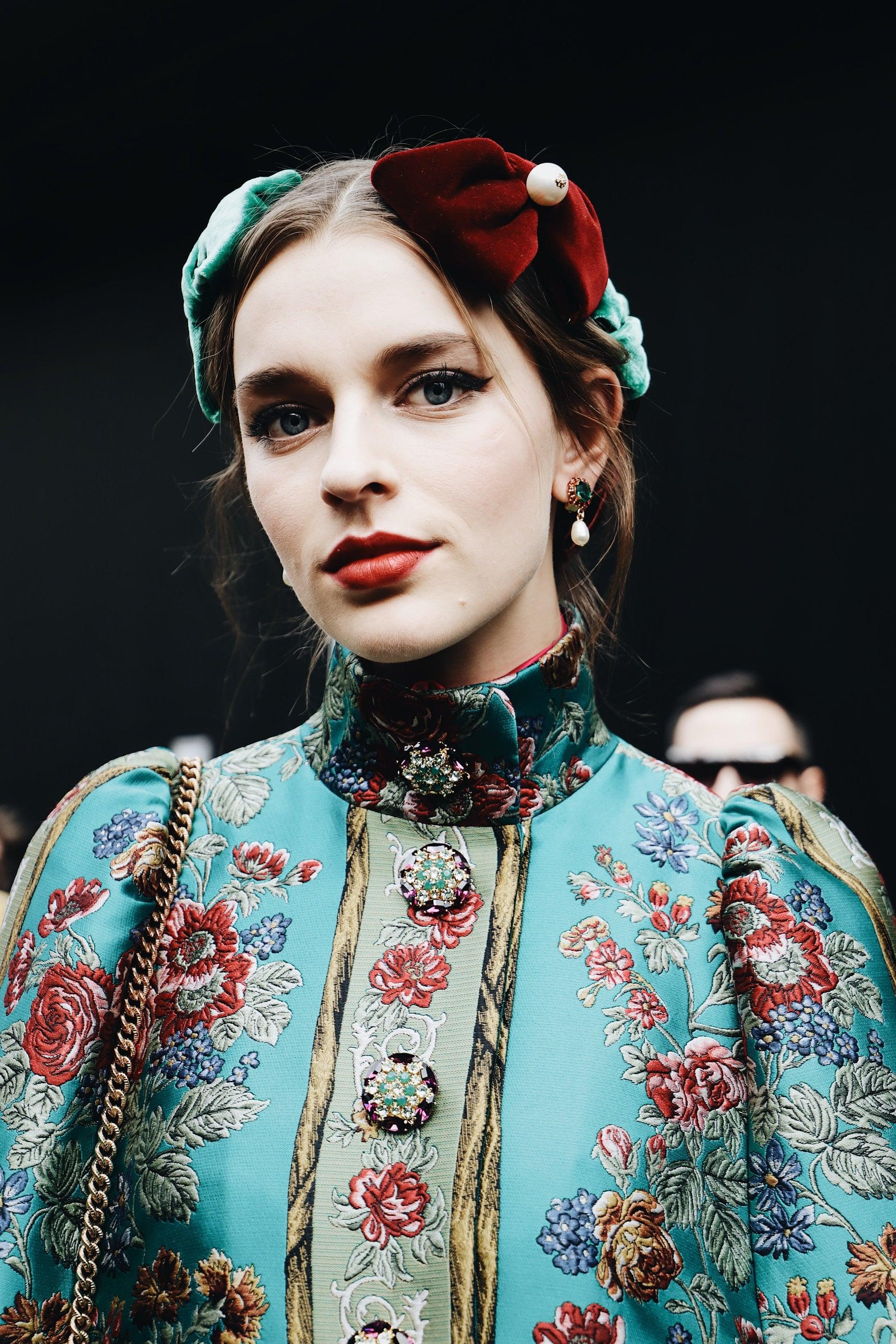 veste fashion total look fleurs
