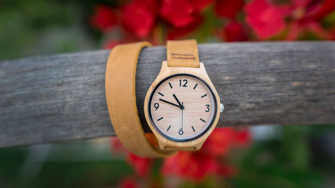 montre en bois tendance