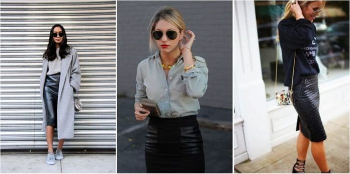 comment porter la jupe crayon et faire son look avec