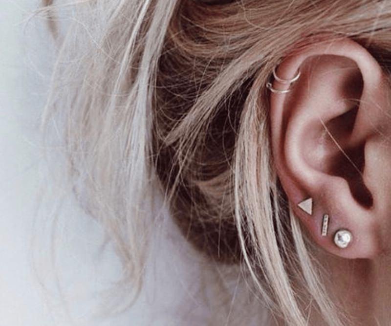 boucles d'oreilles en cerceau