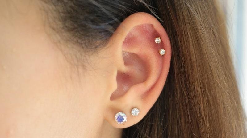 piercing helix labret