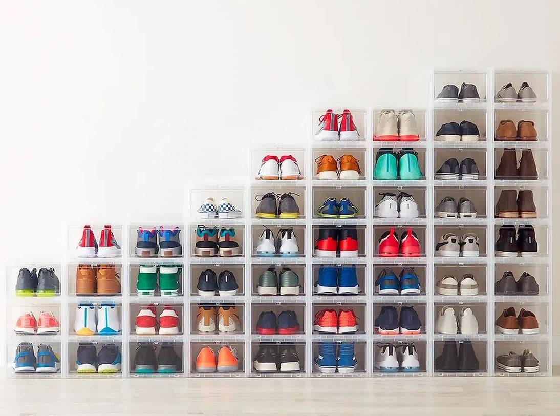 boites en plastique pour ranger ses chaussures