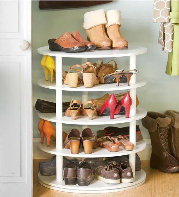 rangement de chaussures tour pivotante