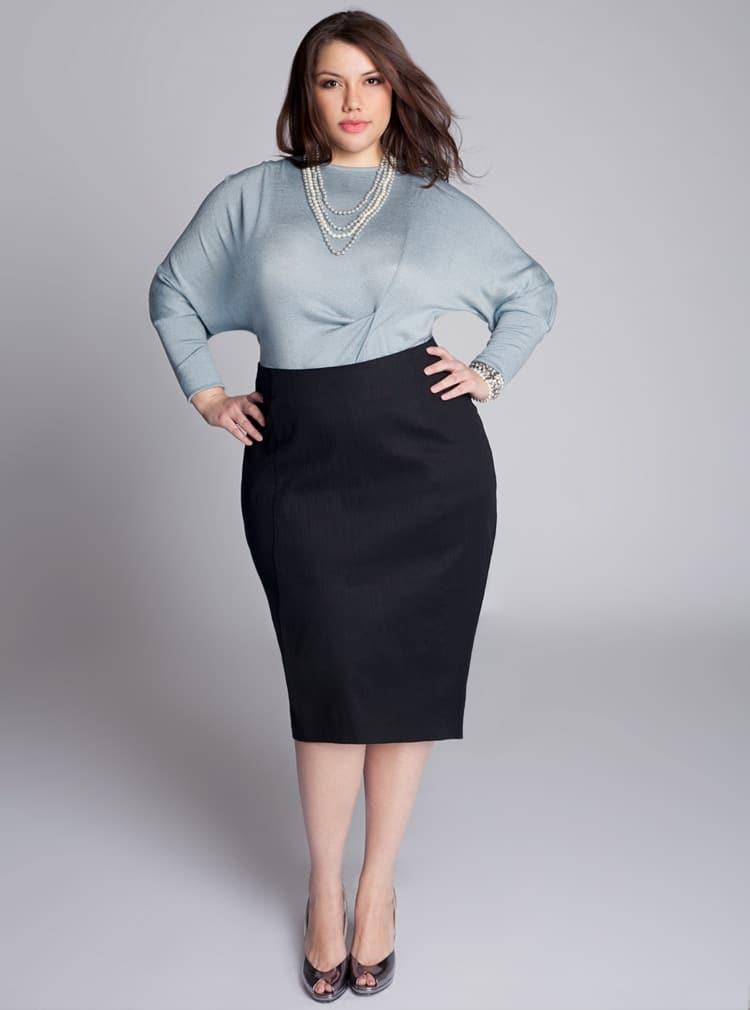 jupe crayon femme avec du ventre
