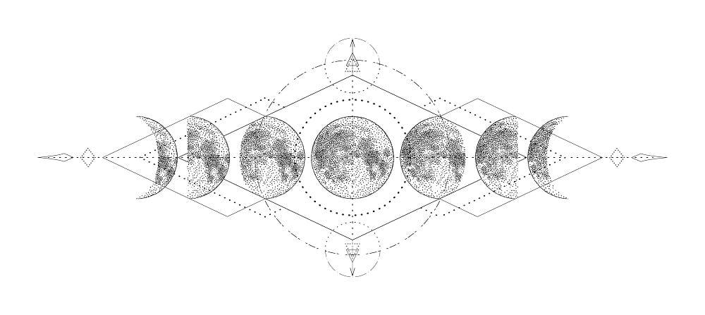 tatouage lune homme