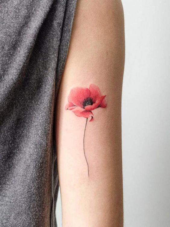 tatouage fleurs
