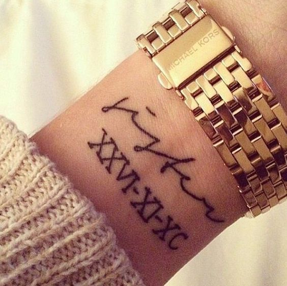 tatouage poignet