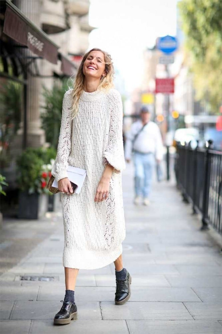 La robe blanche hiver