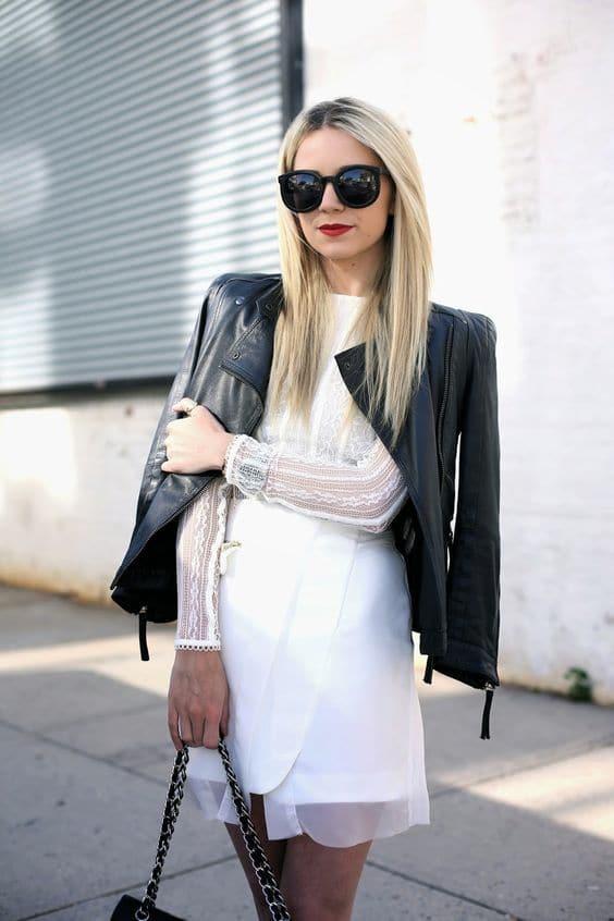 robe blanche courte hiver