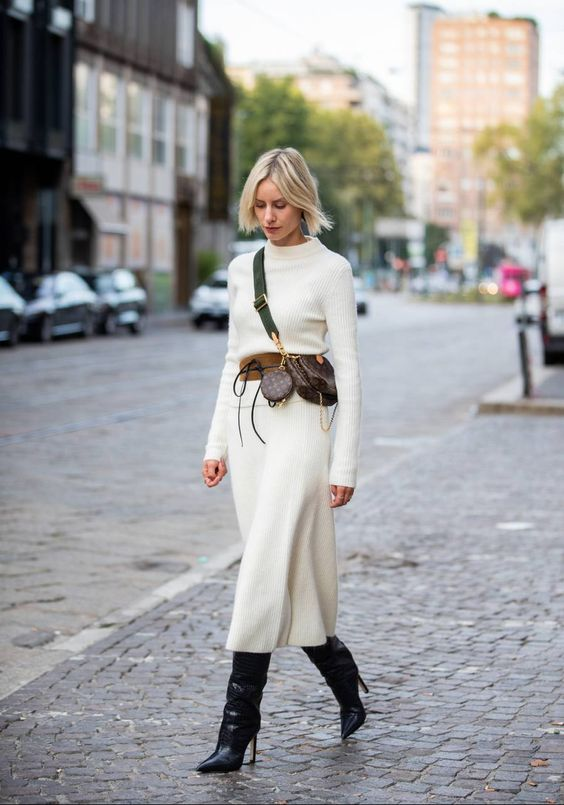 robe blanche femme hiver